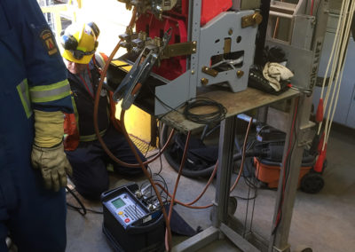 Breaker PM and acceptance testing. (Power systems acceptance )